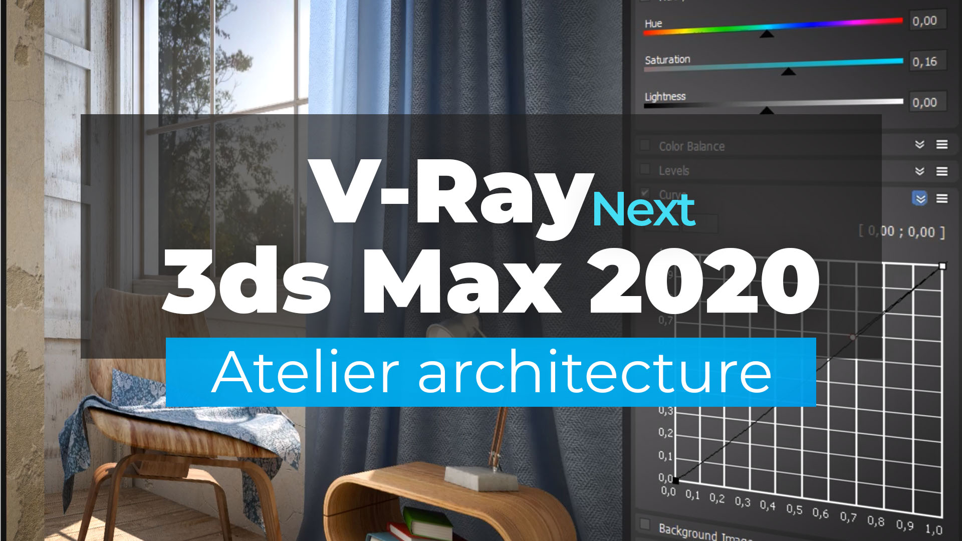 V-Ray Next et 3ds Max 2020 - Atelier architecture