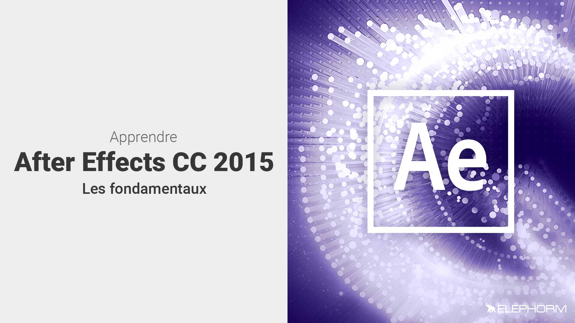 Apprendre After Effects CC 2015