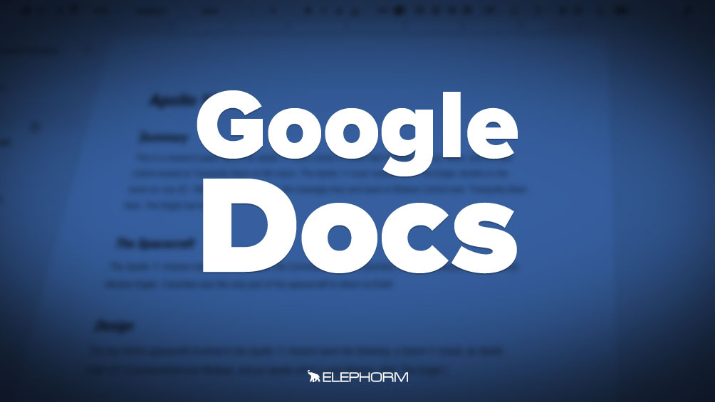 Apprendre Google Documents