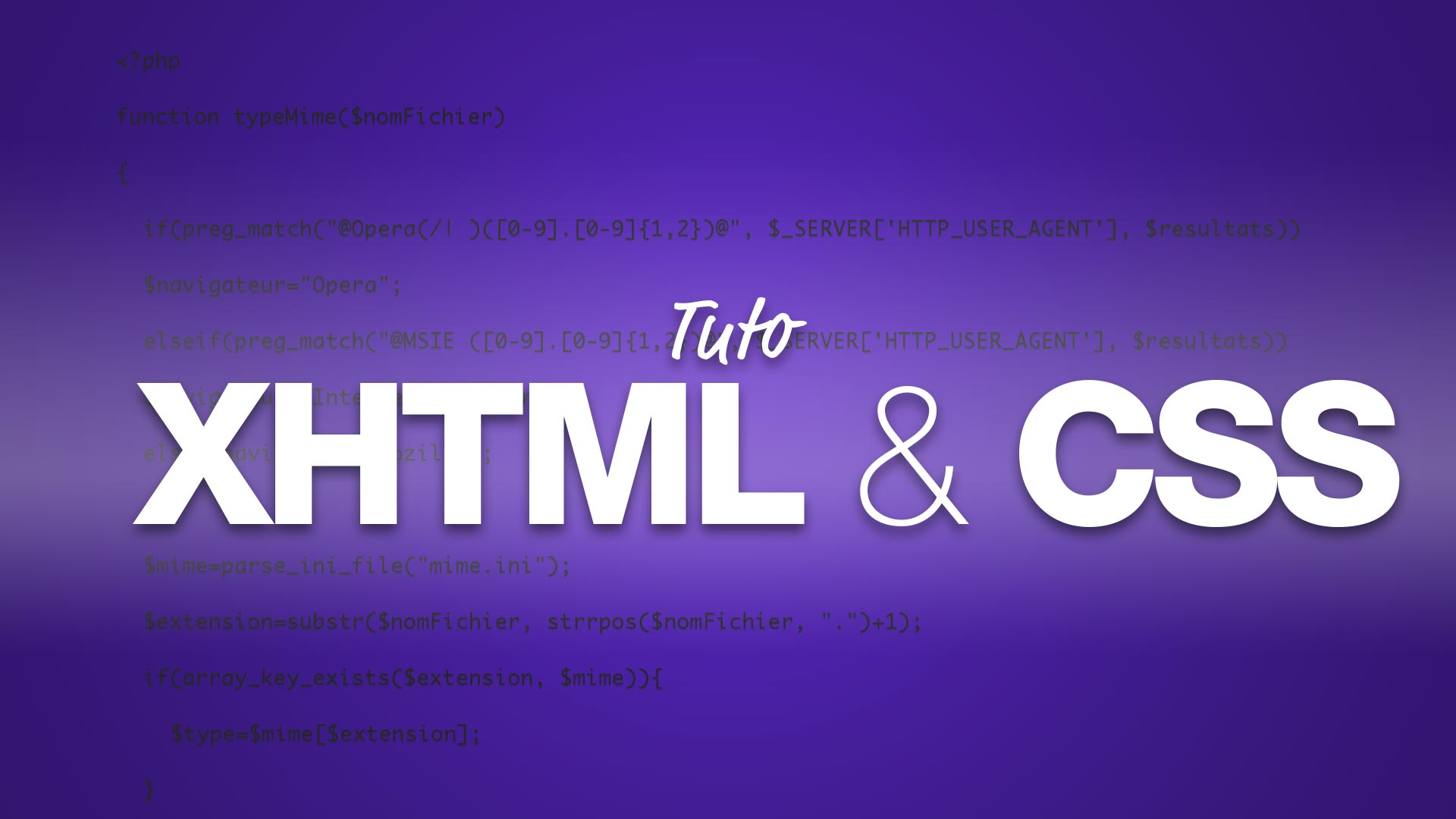 Apprendre XHTML & CSS