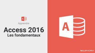 Apprendre Access 2016