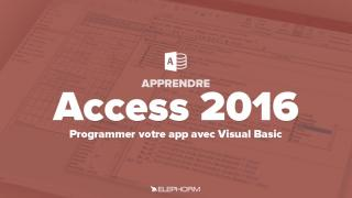 Apprendre Access 2016 - Programmer votre application avec VBA