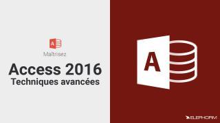Maîtrisez Access 2016